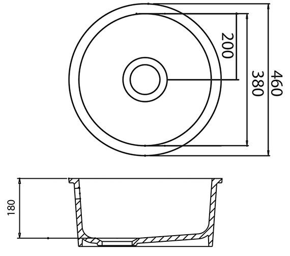 Technical drawing QS-V31097 / LNR1WHHOMESK