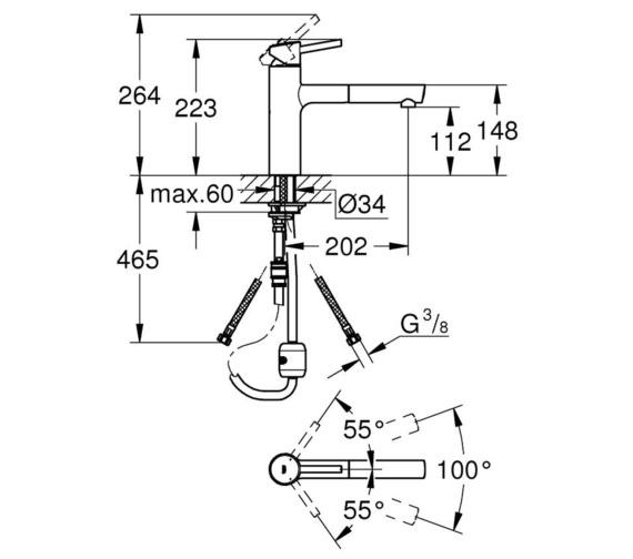 Technical drawing QS-V7904 / 31129001