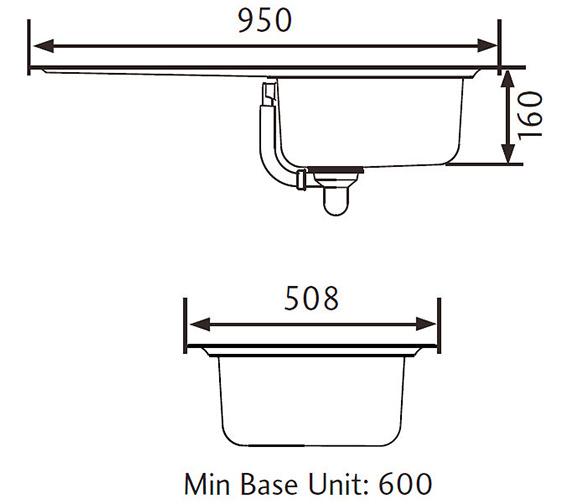 Technical drawing QS-V11039 / BL9501/