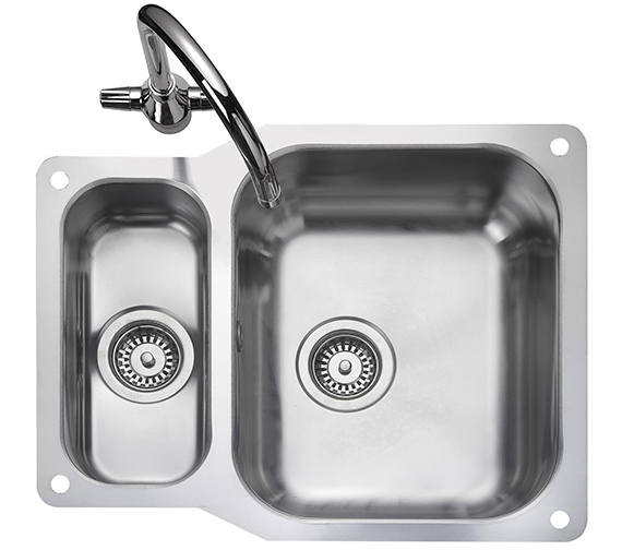 Rangemaster Atlantic Classic 1.5 Bowl Undermount Kitchen Sink - Reversible