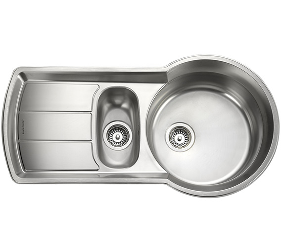Rangemaster Keyhole 1.5 Bowl Stainless Steel Kitchen Sink - KY10002