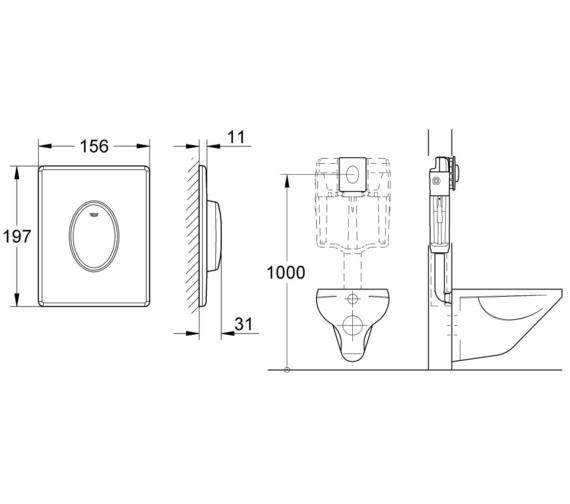 Technical drawing QS-V7458 / 38564SH0