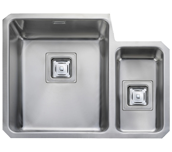 Rangemaster Atlantic Quad 1.5 Bowl Undermount Kitchen Sink Right Hand