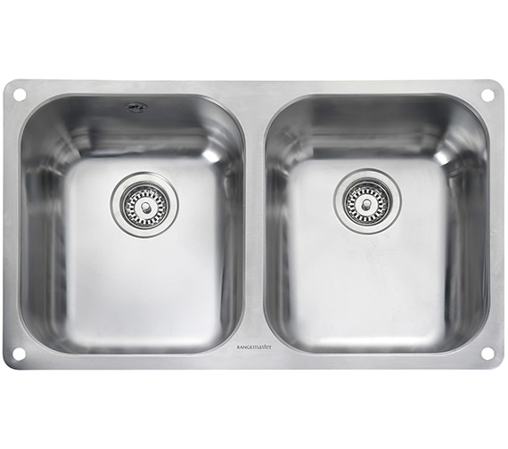 Rangemaster Atlantic Classic 2 Bowl Stainless Steel Undermount Kitchen Sink