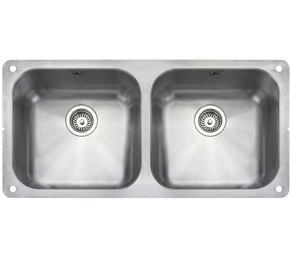 Rangemaster Atlantic Classic Stainless Steel 2 Bowl Kitchen Sink 945mm