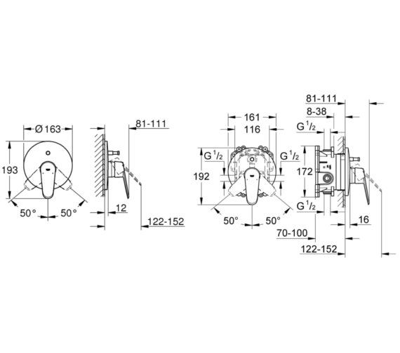 Technical drawing QS-V58327 / 19548002