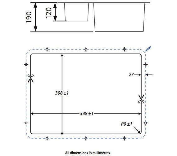 Technical drawing QS-V18874 / KUB3418R/