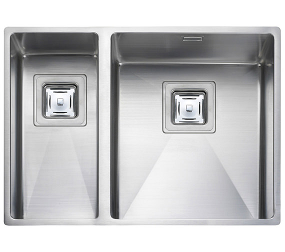 Rangemaster Atlantic Kube 1.5 Bowl Undermount Kitchen Sink - RH