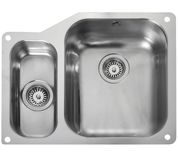 Rangemaster Atlantic Classic Undermount 1.5 Bowl Kitchen Sink Small Left