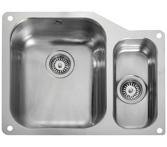 Rangemaster Atlantic Classic Undermount 1.5 Bowl Kitchen Sink Small Right