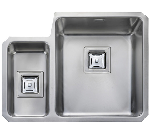 Rangemaster Atlantic Quad 1.5 Bowl Undermount Kitchen Sink Left Hand