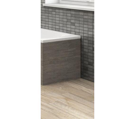 Hudson Reed 700mm Grey Avola Shower Bath End Panel Off579