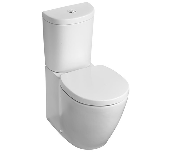 Ideal Standard Concept Space Arc Compact Close Coupled BTW WC Pan 605mm