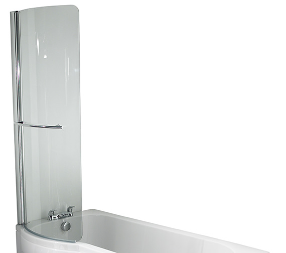 Twyford Galerie Optimise 780 x 1500mm Curved Left Hand Shower Bath Screen