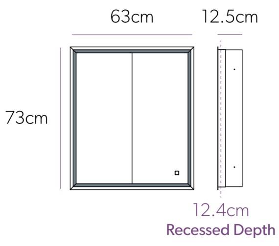 Technical drawing QS-V9160 / 47700