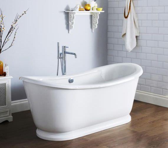 Hudson Reed Alice 1740 x 800mm Freestanding Acrylic Slipper Bath