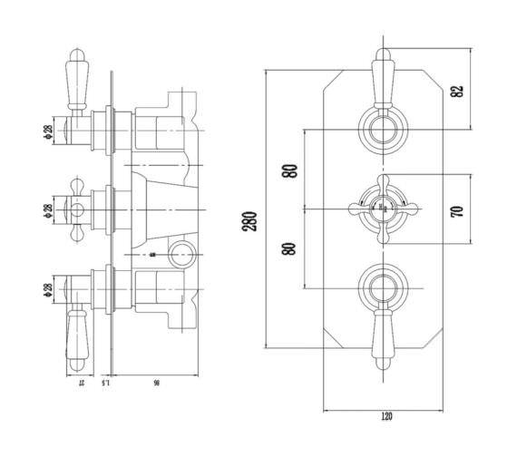 Technical drawing QS-V90231 / TSVT003