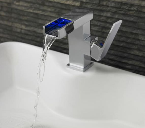 Hudson Reed Art LED Mono Basin Mixer Tap With Waste