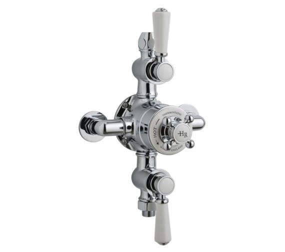 Hudson Reed Topaz Triple Exposed Thermostatic Shower Valve Chrome-White