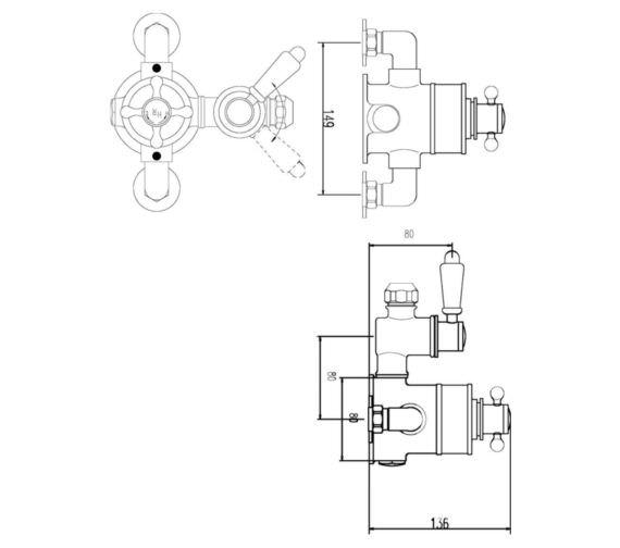 Technical drawing QS-V90232 / TSVT101