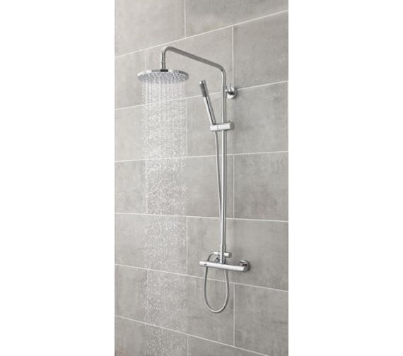 Hudson Reed Telescopic Rigid Riser Kit With Diverter And Round Shower Head
