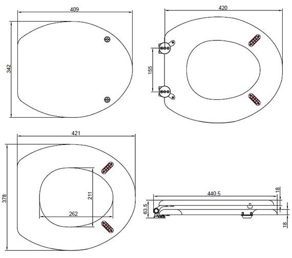 Technical drawing QS-V89047 / TSWAS100