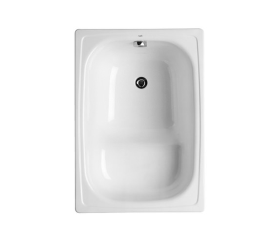 Roca Contesa 1000 x 700mm Rectangular Steel Hip Bath