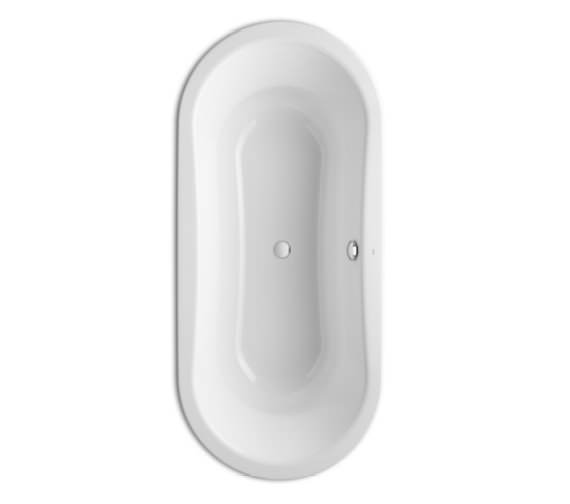 Roca Duo Oval Plus 1800 x 800mm Double Ended Steel Bath Without Anti-slip