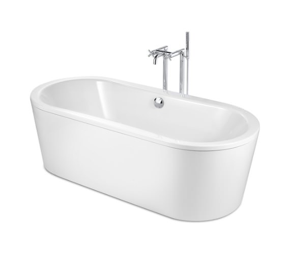 Roca Duo Oval Plus 1800 x 800mm Freestanding Steel Bath
