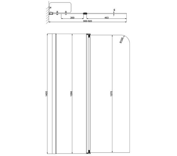 Technical drawing QS-V54690 / AP9577S