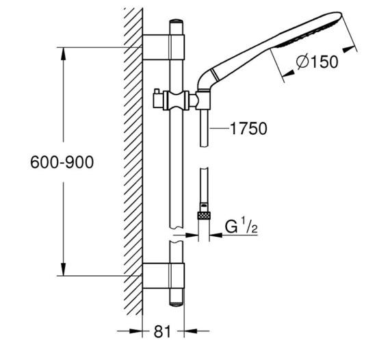 Technical drawing QS-V7938 / 27402001