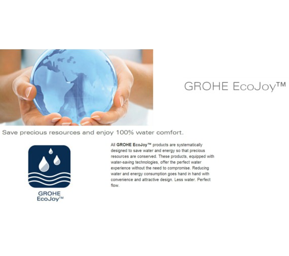 Additional image of Grohe Euroeco Special Single Lever Basin Mixer Tap With Pop-Up Waste