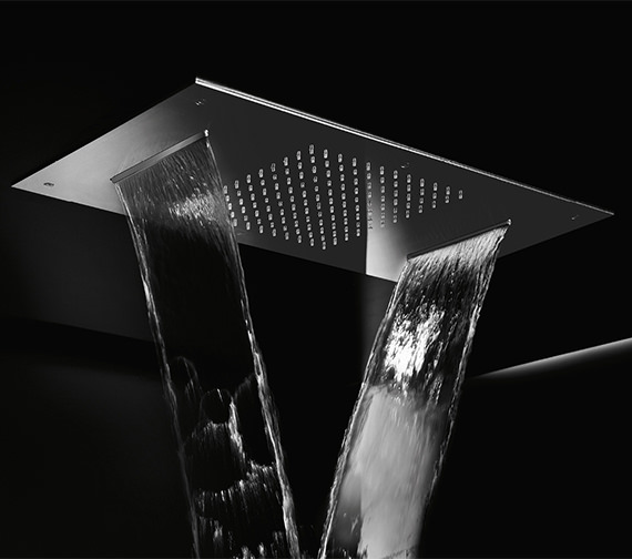 Crosswater Ultra Thin 380 x 700mm Chromotherapy Illuminated LED Shower Head