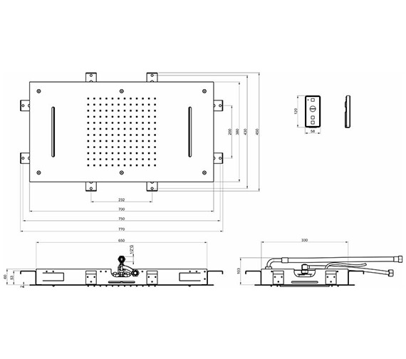 Technical drawing QS-V84379 / FHX700C