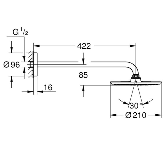 Technical drawing QS-V7949 / 26171000