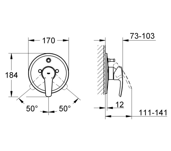 Technical drawing QS-V58368 / 19507001