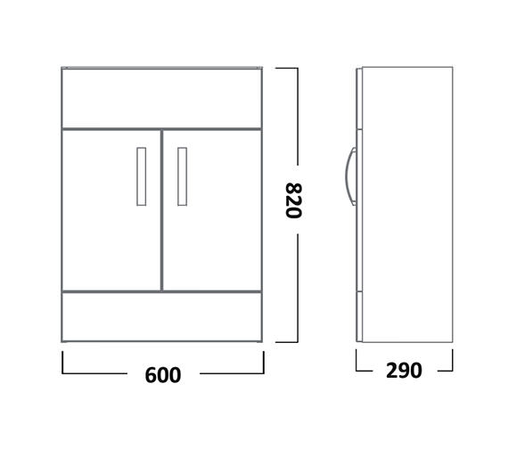 Technical drawing QS-V22799 / CR6FW