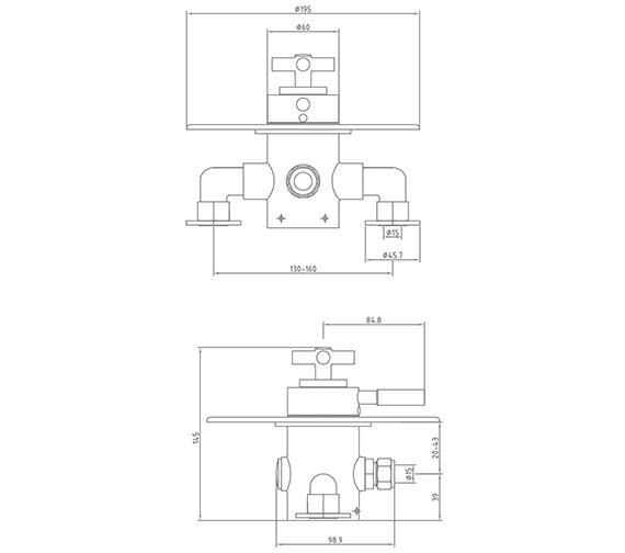Technical drawing QS-V51019 / BU/192/C