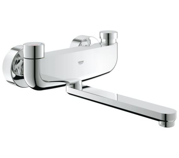 Grohe Eurosmart Cosmopolitan T Self Closing Wall Mounted Basin Mixer Tap