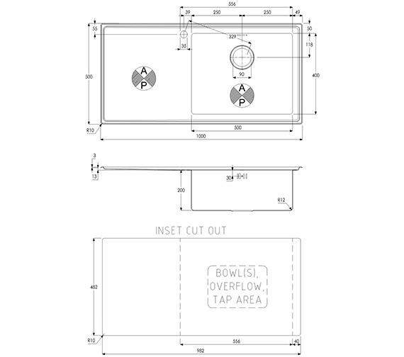 Technical drawing QS-V39195 / AW5028