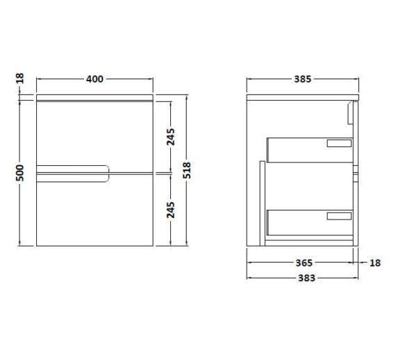 Technical drawing QS-V90098 / FMU592