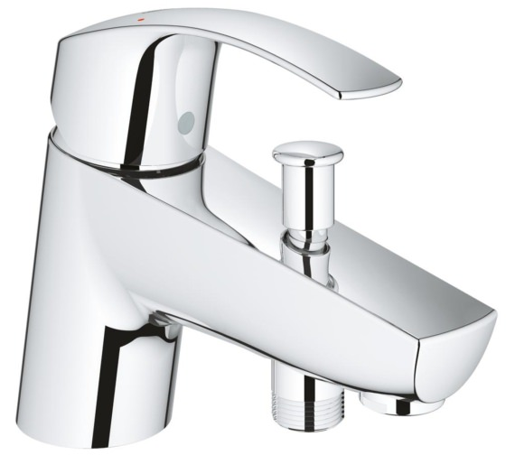 Grohe Eurosmart Single Lever Bath Shower Mixer Tap Chrome - 33412002