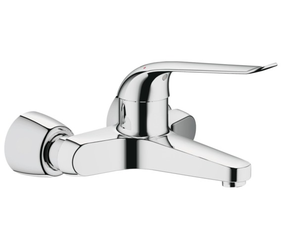 Grohe Euroeco Special 2 Hole Wall Mounted Basin Mixer Tap