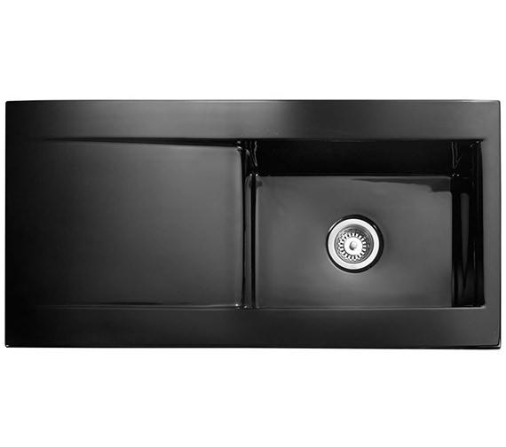 Rangemaster Nevada 1.0 Bowl Black Ceramic Kitchen Sink - CNV1BL