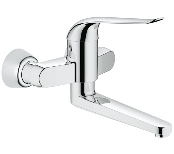 Grohe Euroeco Special Single Lever Wall Mounted Basin Mixer Tap