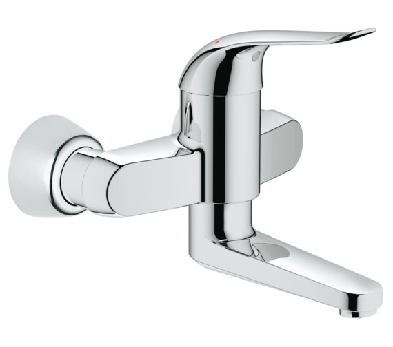 Grohe Euroeco Special Half Inch Wall Mounted Basin Mixer Tap