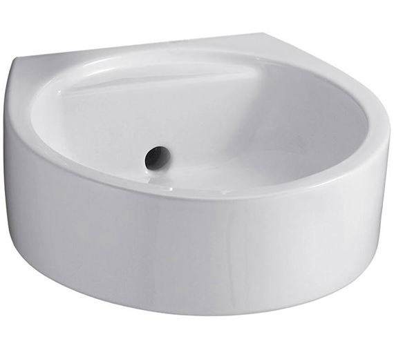 Ideal Standard White 450mm Round Back Outlet Washbasin