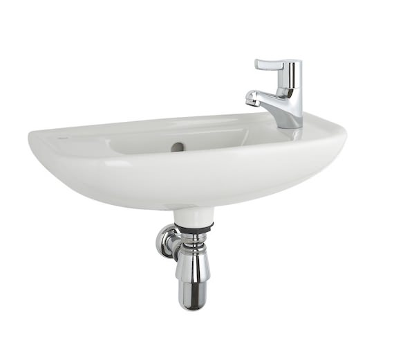 Roca Access Wall Hung Basin 500 x 230mm With 1 Tap Hole On Right Hand