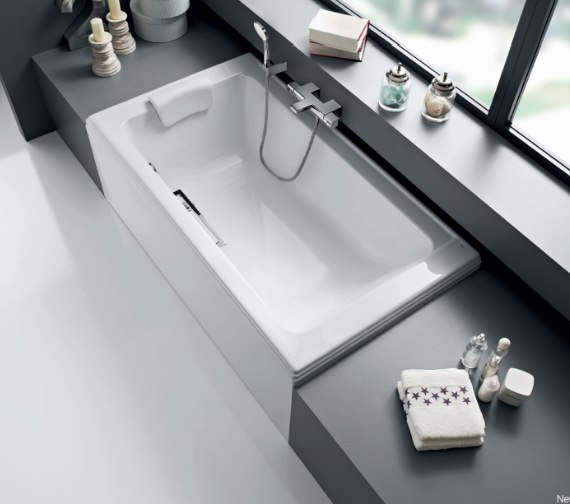 Roca New Classical Rectangular Acrylic Bath With Grip 1800 x 1000mm