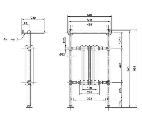 Technical drawing QS-V90276 / HTD06
